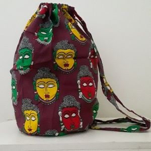 Handbags - COLORFUL BUDDHA FACES COTTON BACKPACK